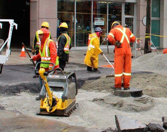 PHOTO: Vancouver Sinkhole Repair