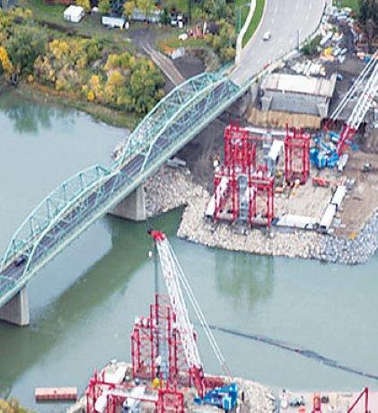 Steel for delayed Edmonton bridge finally arrives
