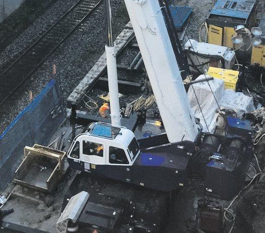 PHOTO: Renovation work at Broadway Skytrain