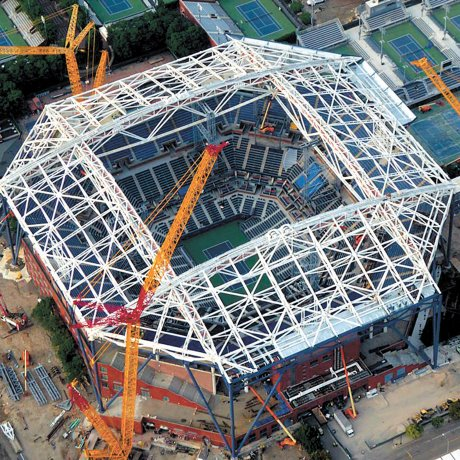 Steel serves up an ace for Arthur Ashe roof