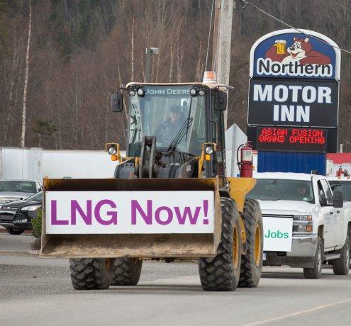 Pro-LNG truck rallies rumble through northern B.C.