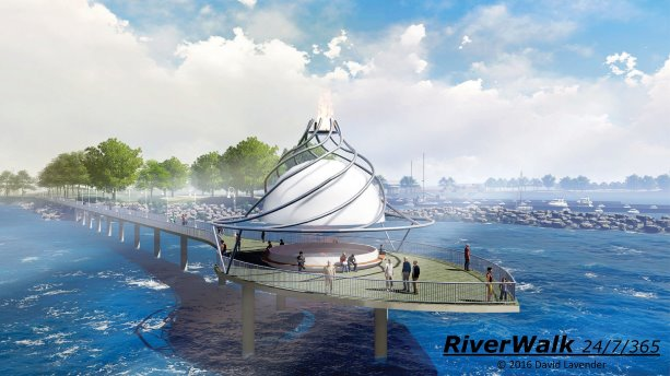 Steel design core to proposed Sarnia RiverWalk concept