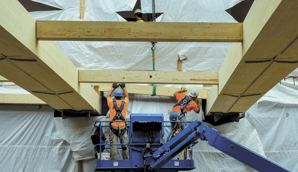 UMass wood construction expertise has Canadian roots