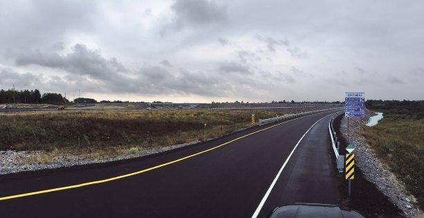 Highway 69 twinning linking its way north