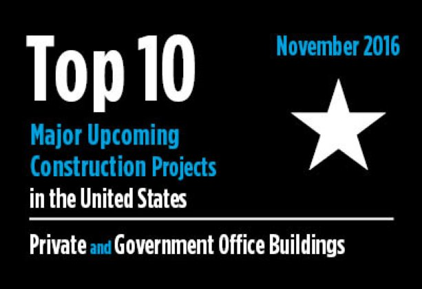 Twenty major upcoming Private and Government Office Building construction projects - U.S. - November 2016