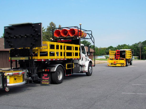 Automated crash vehicle designed to further protect road workers