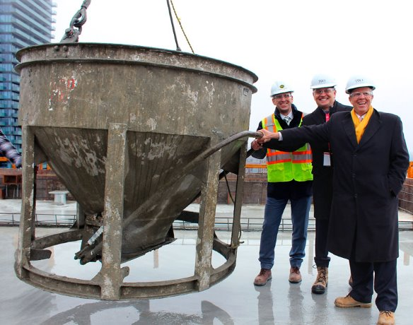 Concrete structure complete at Two St. Thomas project