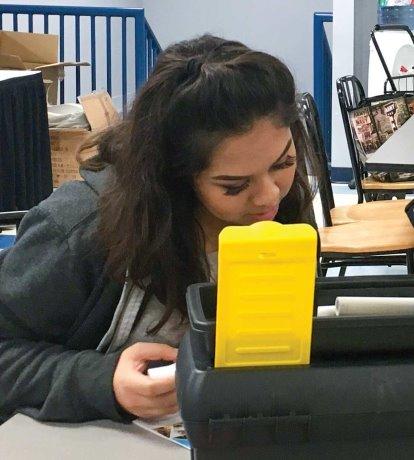 High school girls explore trades careers