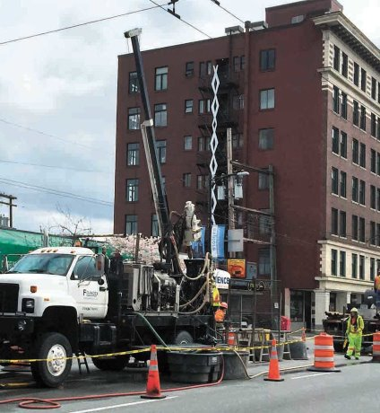 PHOTO: Drilling on Broadway