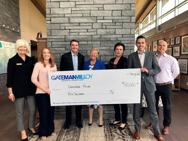Gateman-Milloy donates $50,000 to Innisfree House