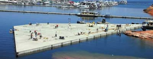 Vancouver homes, resorts make use of floating concrete islands