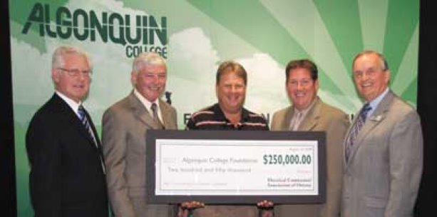 Electrical contractors give back with Algonquin College donation