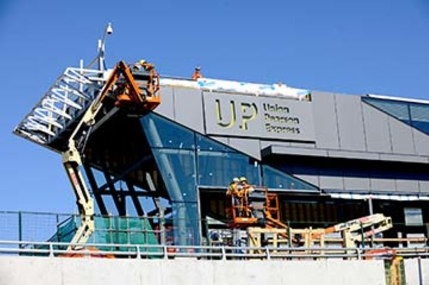 UP Express station hits three-quarter mark