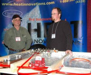 … while Heat Innovations representatives demonstrated how they stand behind their products.