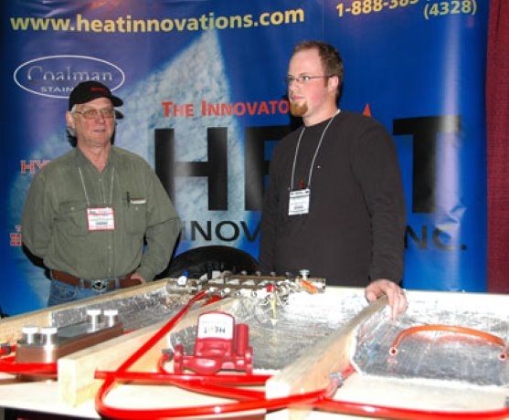 ... while Heat Innovations representatives demonstrated how they stand behind their products.