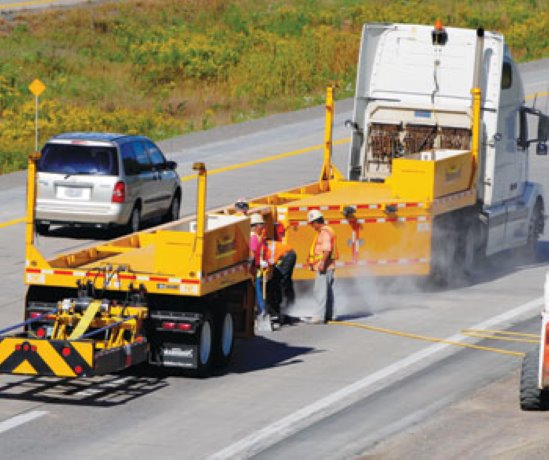 Ontario uses temporary barriers to protect highway workers