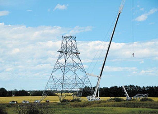Heartland Transmission Project under construction in Edmonton