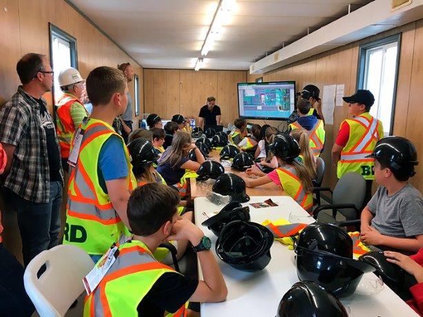 Halifax students visit jobsite for construction primer