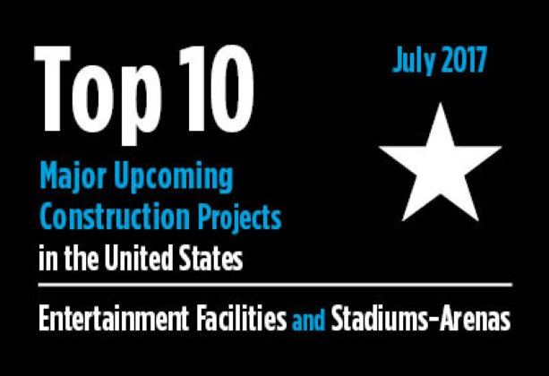 Twenty major upcoming entertainment facility and stadium-arena construction projects - U.S. - July 2017