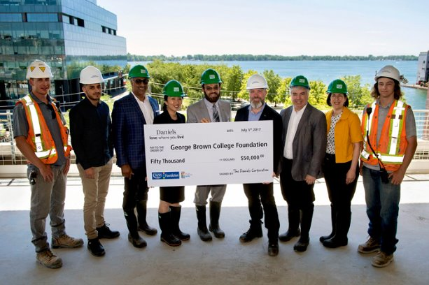 The Daniels Corporation donates to George Brown College school of construction
