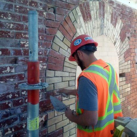 Old school masonry work stabilizes Locust Hill School House