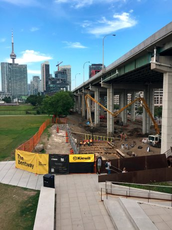 Bentway phase one taking shape under Gardiner