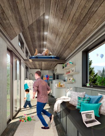 A tiny house with big efficiency expectations