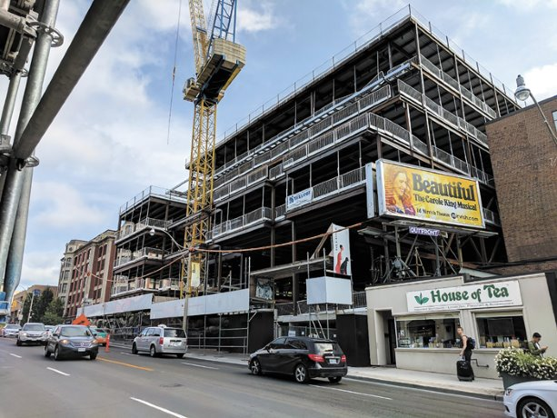 Six-storey condo project transforms former office space