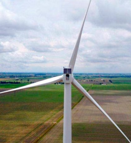 Belle River wind power plant commissioned