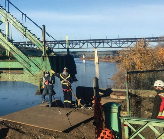 Old Walterdale Bridge ends century of service