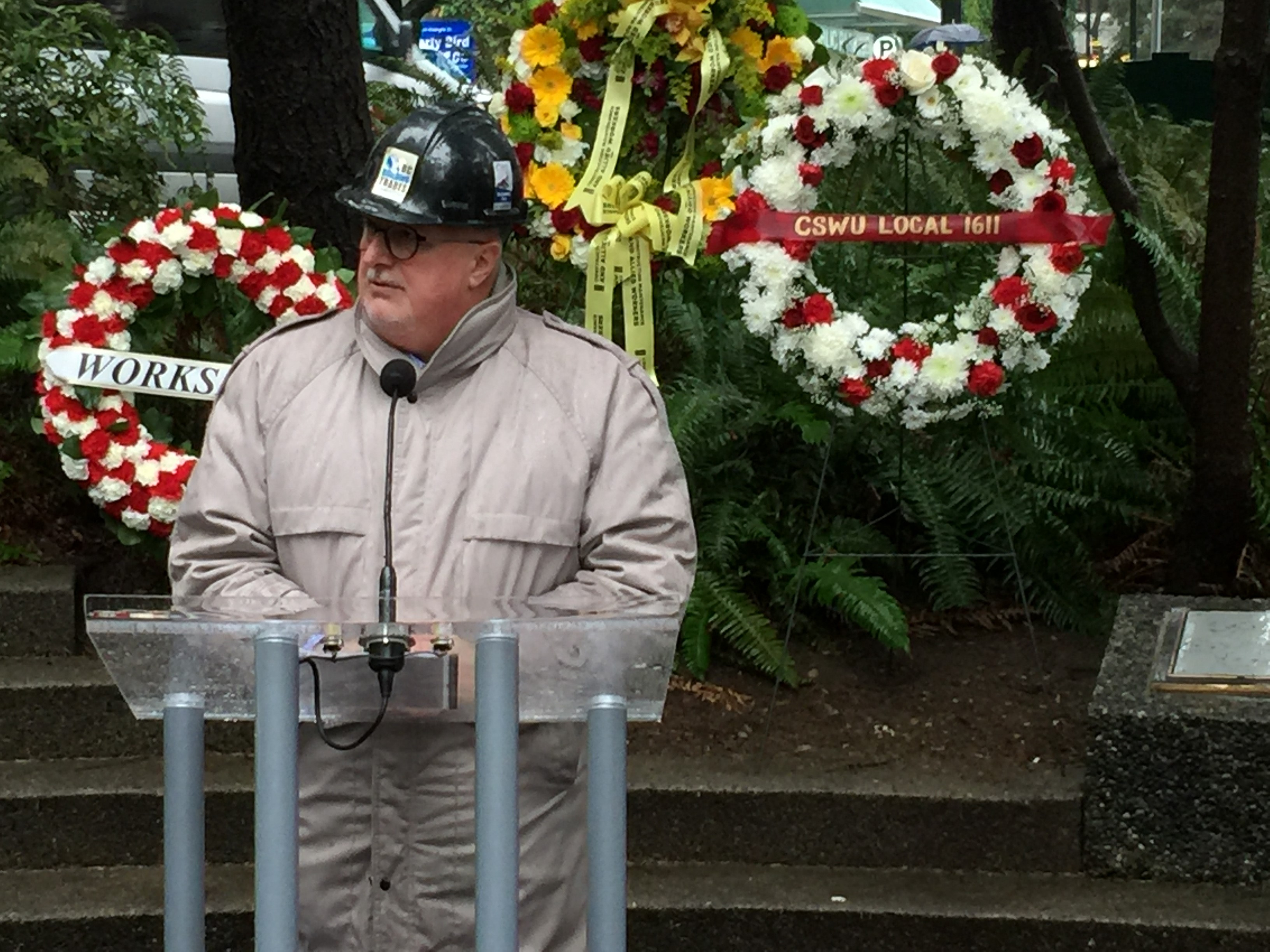 BC Building Trades executive director Tom Sigurdson hosted a memorial on Jan.8 to remember and honour those who died in the Bentall IV tower tragedy.