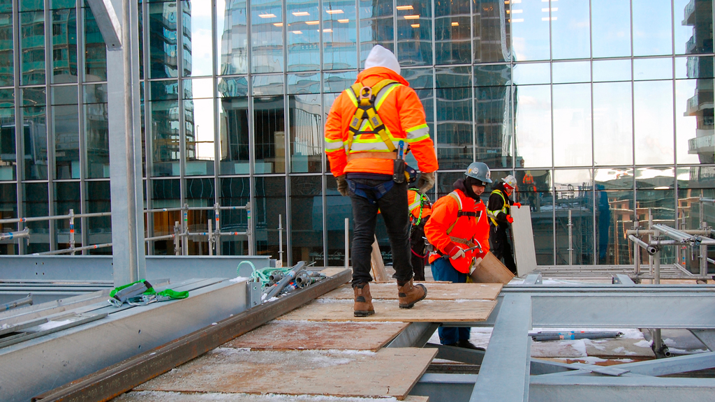 Scafom Canada dismantled a scaffold from a Toronto office tower in subzero weather just after Christmas.