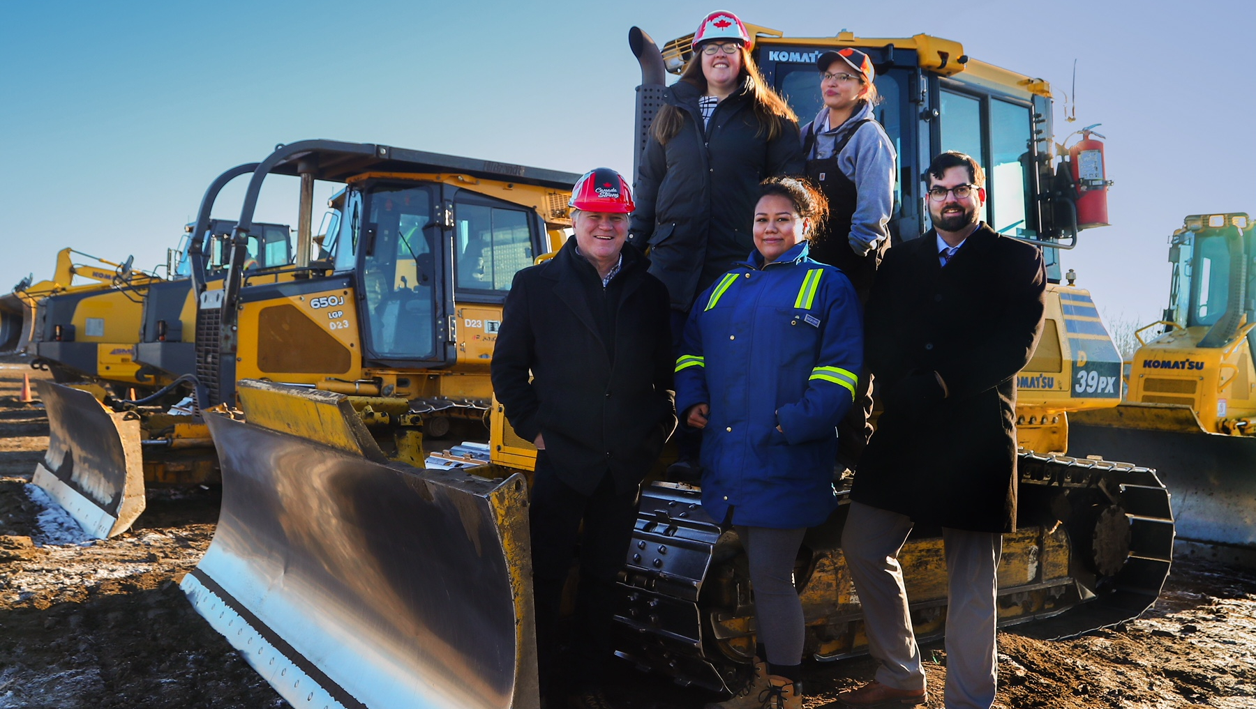 indigenous women provided heavy equipment operator