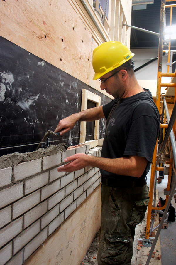 Salah Dib is one of the students enrolled in the two-month Residential Bricklaying Program at the Skilled Trades College of Canada in Vaughan, Ont. Dib, who came to Canada from Syria a year ago, said the program will give him the skills to start a career in the trade.