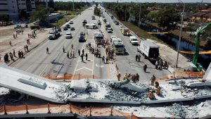 Collapsed bridge builder files for bankruptcy in Miami
