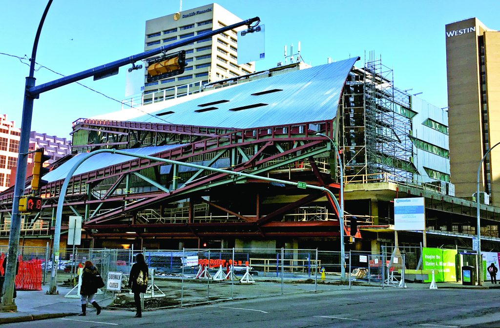 Stanley A. Milner Library rising to become a showcase structure