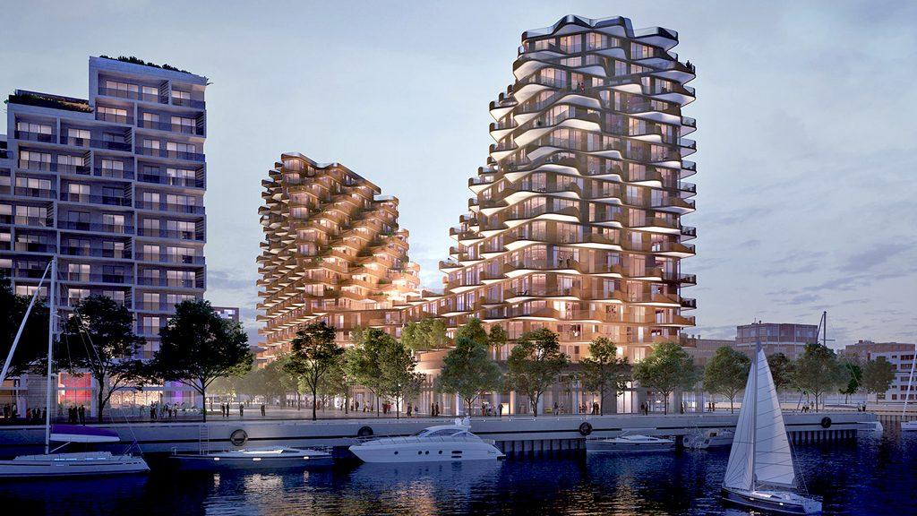 Tridel and Hines unveil design for Bayside Toronto's Aqualuna condo