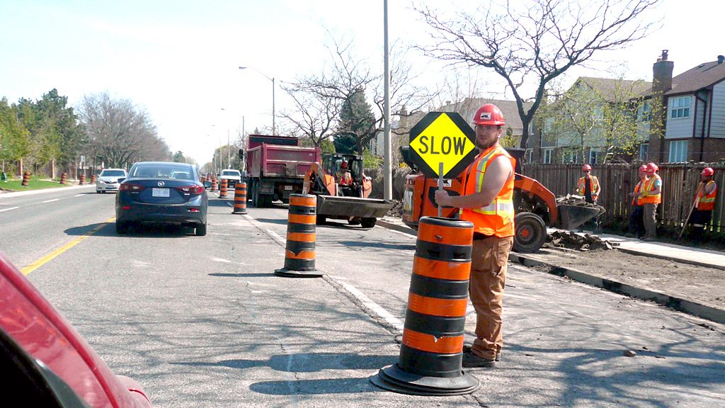 Truck driver ticketed for crashing through work zone
