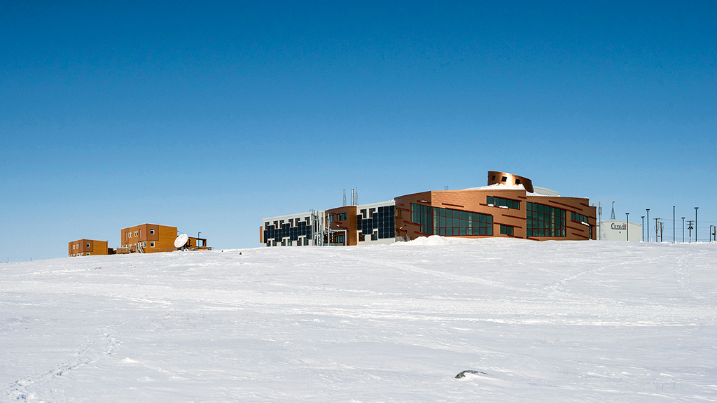 The Canadian High Arctic Research Station in Cambridge Bay, Nunavut, will provide a year-round presence and complement the network of research facilities across Canada's North. The campus was designed by EVOQ Architecture in joint venture with NFOE. Construction manager was EllisDon in joint venture with NCC Dowland Construction Ltd.