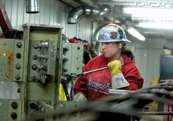 Cara Wilson's goal is to earn a generalist ironworker ticket by 2020. That certification covers structural/ornamental work as well as rebar. Ultimately, she would like to become an ironworker instructor in the field.