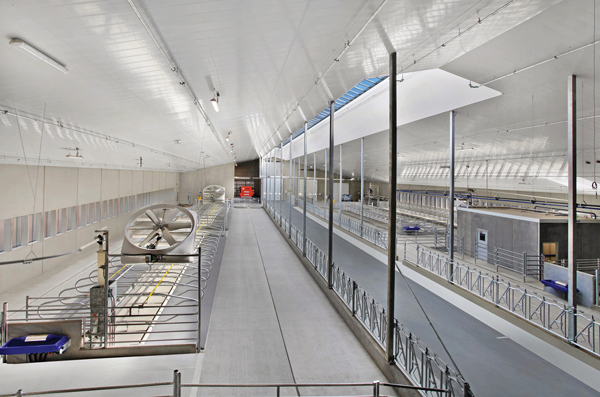 The high-tech dairy facility contains such features as robotic milking and feeding systems, automated manure management, herd navigator technology and automatic sort gates.