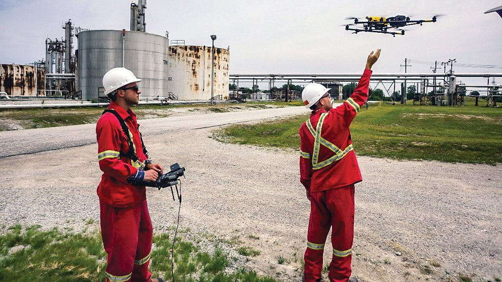 Multi-function drones take flight on construction sites