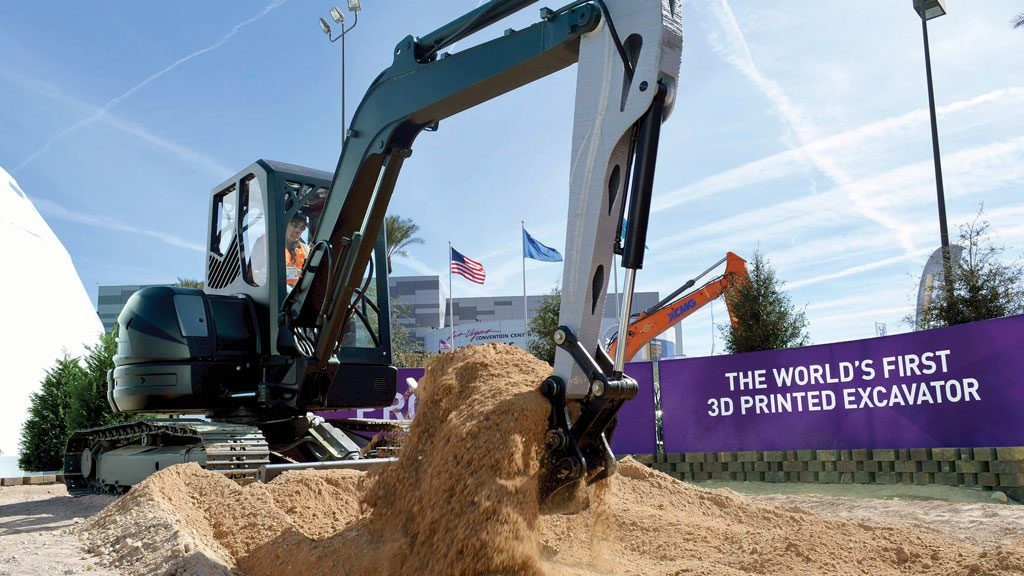3-D printed excavator showcases potential of large-scale additive manufacturing