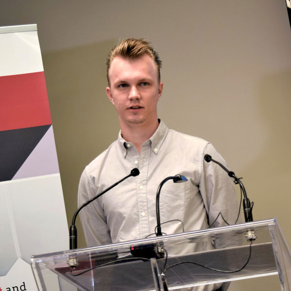 The Ontario Electrical League invited former Sheridan College electrical student Alexander Klusek to a media conference to tell his story about his fruitless search for an apprenticeship position.