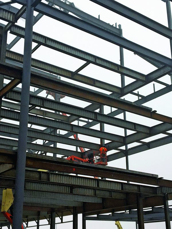 IN beams are welded wide flange beams with corrugated webs. They are up to 30 per cent lighter than conventional steel beams.