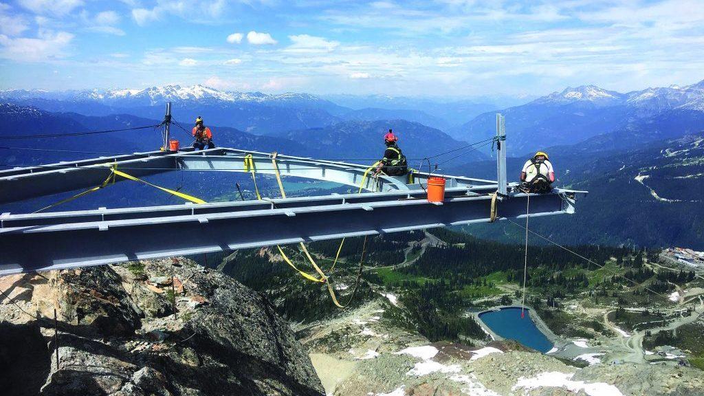 Alpine contractor builds new Whistler pedestrian bridge, platform