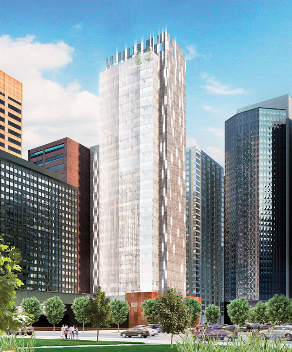 A 300-room dual-branded luxury hotel is starting to rise in downtown Calgary on 5th Avenue S.W. The 27-storey building is slated for completion in 2020.