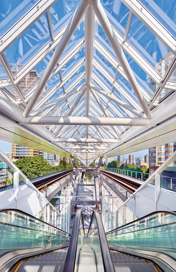 The three-phase upgrade of the Metrotown station and exchange required a complex pedestrian management solution since 50,000 passengers go through it daily.