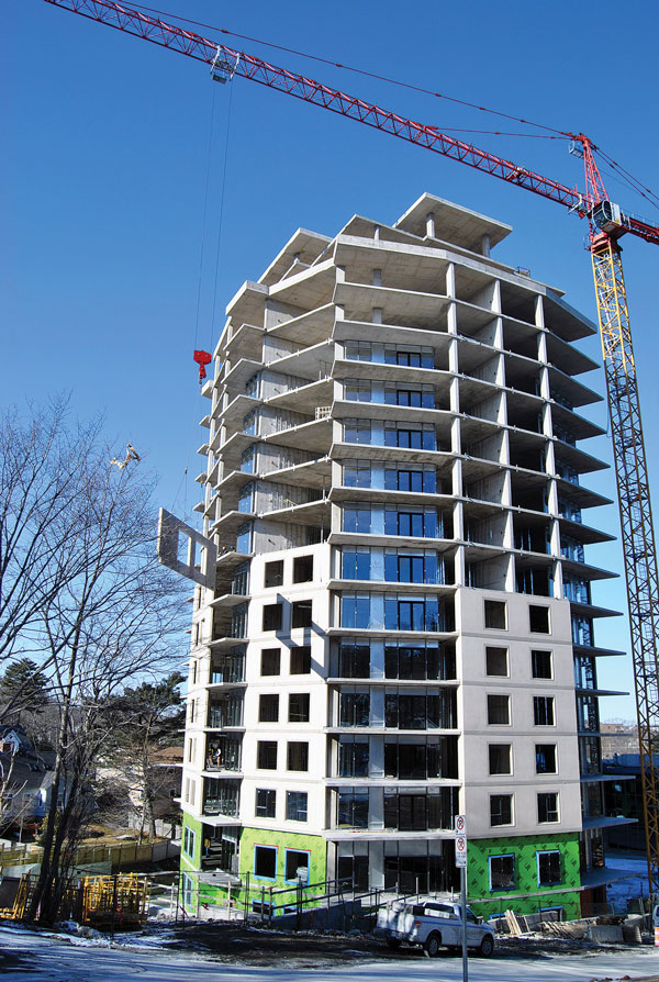 """OSCO's president Hans Klohn says forward-thinking builders see a big picture where prefabrication is """"a production system rather than a project-based approach."""" Pictured is precast work for a building."""
