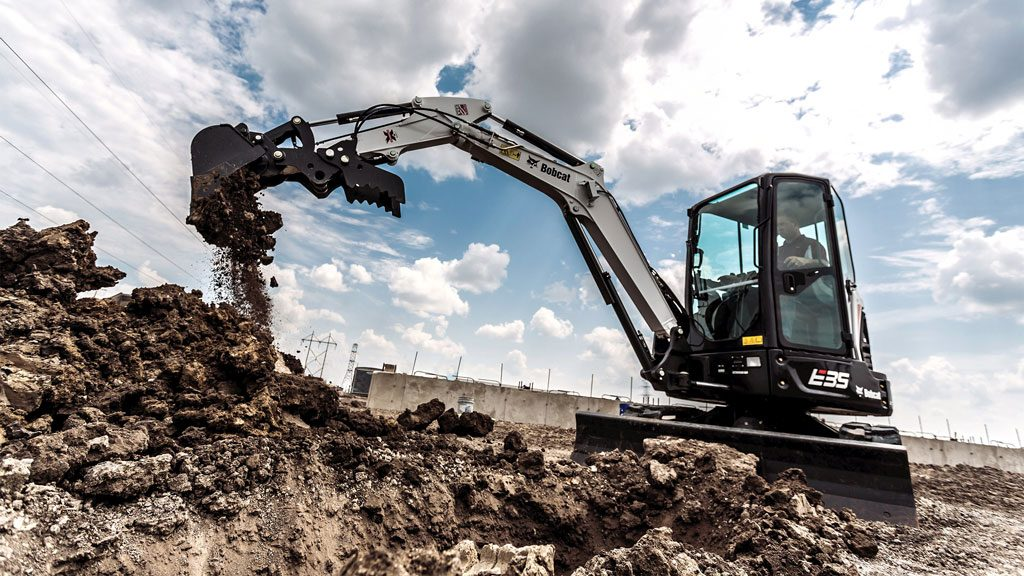 Bobcat R Series mini excavators ideal for urban jobsites